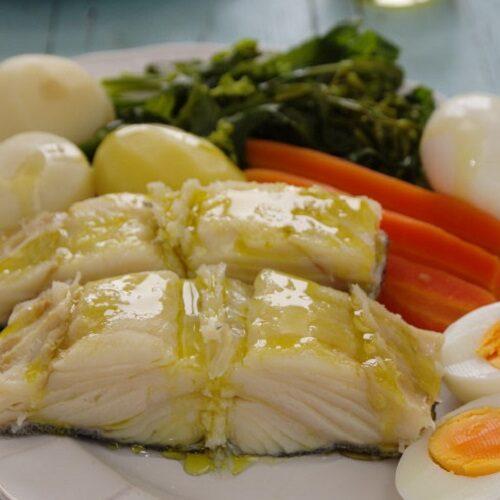 Bacalhau cozido com todos